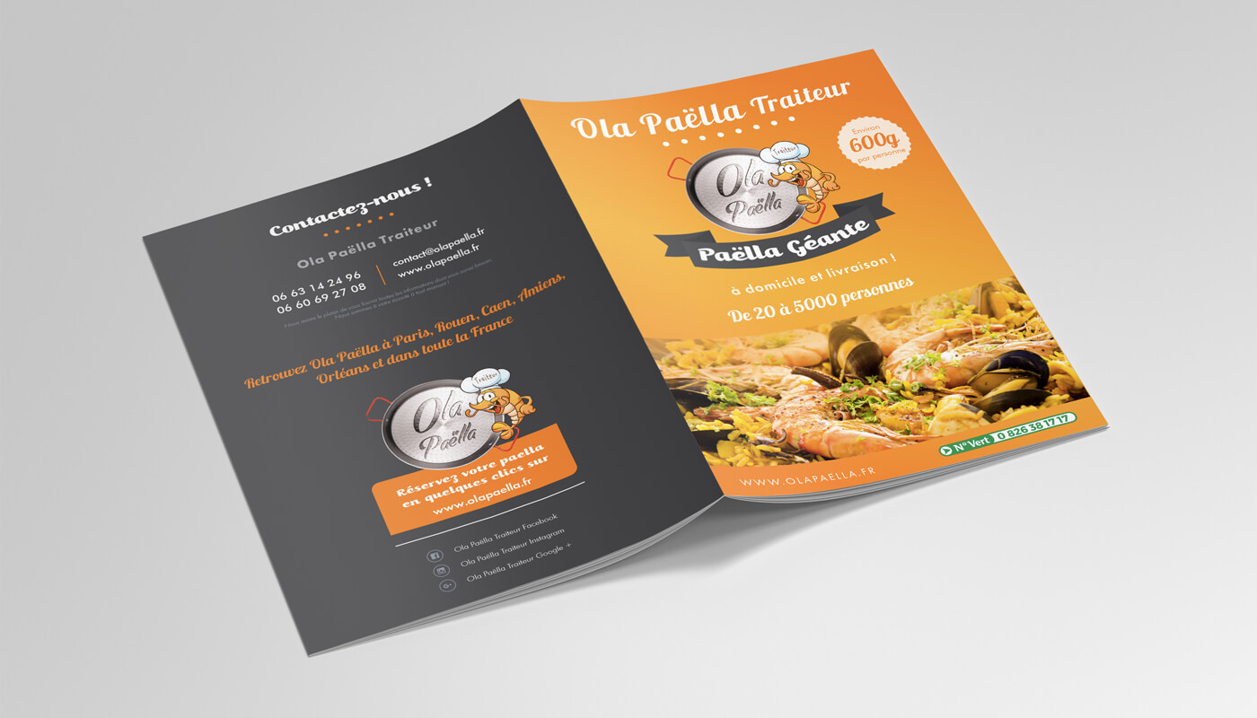 creation flyer logo ola paella